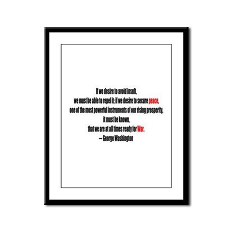 Peace and War Framed Panel Print