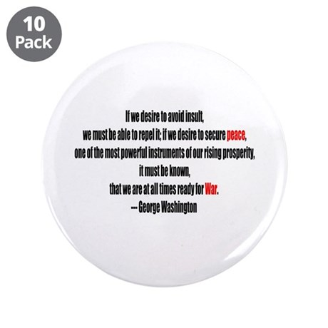 "Peace and War 3.5"" Button (10 pack)"
