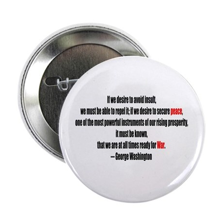 "Peace and War 2.25"" Button (100 pack)"