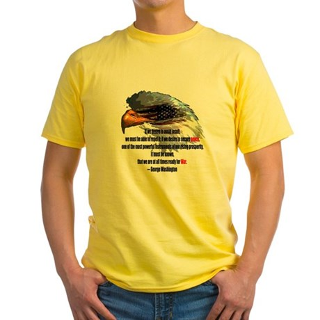Peace and War Yellow T-Shirt