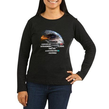 Peace and War Women's Long Sleeve Dark T-Shirt