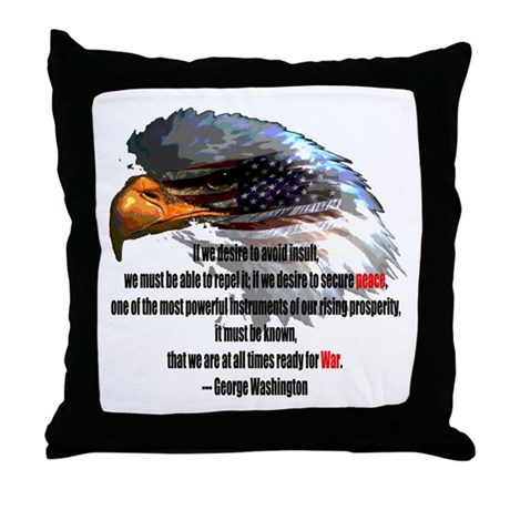 Peace and War Throw Pillow