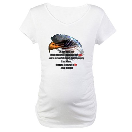 Peace and War Maternity T-Shirt