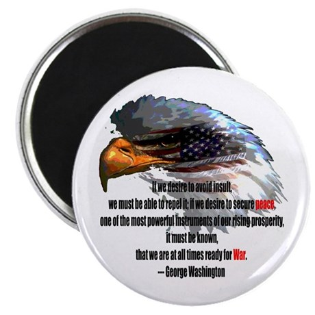 "Peace and War 2.25"" Magnet (100 pack)"