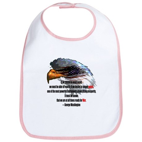 Peace and War Bib
