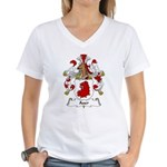 Auer Family Crest Women's V-Neck T-Shirt