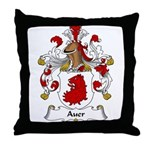 Auer Family Crest Throw Pillow