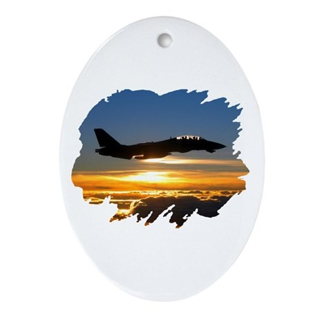 F-14 Tomcat Oval Ornament