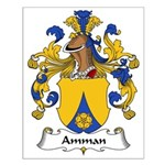 Amman Family Crest Small Poster