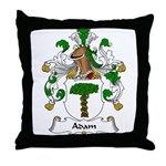 Adam Family Crest Throw Pillow