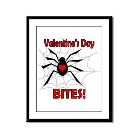 Valentine's Day Bites Framed Panel Print