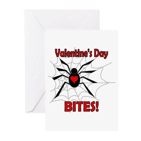 Valentine's Day Bites Greeting Cards (Pk of 10)