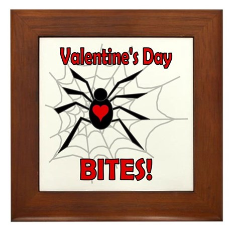 Valentine's Day Bites Framed Tile