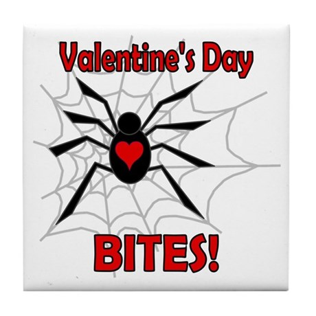 Valentine's Day Bites Tile Coaster