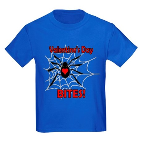 Valentine's Day Bites Kids Dark T-Shirt