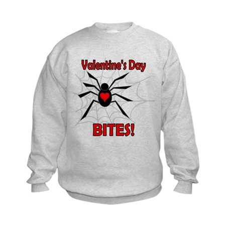 Valentine's Day Bites Kids Sweatshirt