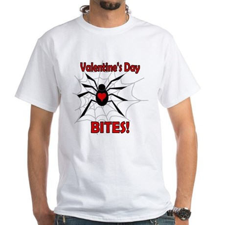 Valentine's Day Bites White T-Shirt