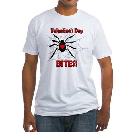 Valentine's Day Bites Fitted T-Shirt