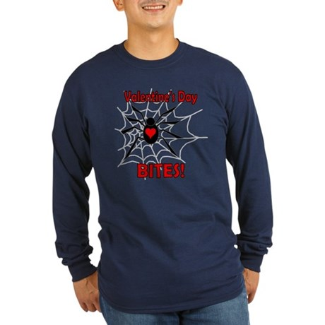 Valentine's Day Bites Long Sleeve Dark T-Shirt