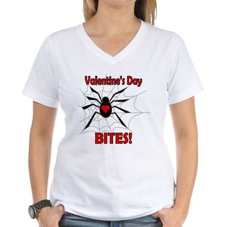Valentine's Day Bites Women's V-Neck T-Shirt
