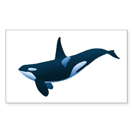 Orca Rectangle Sticker