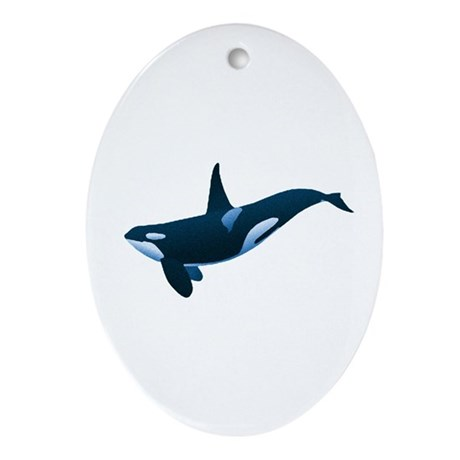 Orca Oval Ornament