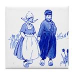 Dutch Look Blue Tile Coaster