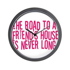 The Road To a Friend's House Wall Clock