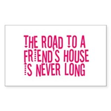 The Road To a Friend's House Rectangle Decal