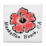 Manhattan Beach Tile Coaster