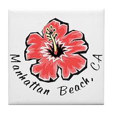 Manhattan Beach Tile Coaster