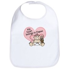 My Heart Belongs to Papaw GIR Bib