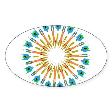 Kaleidoscope 003a1 Oval Sticker
