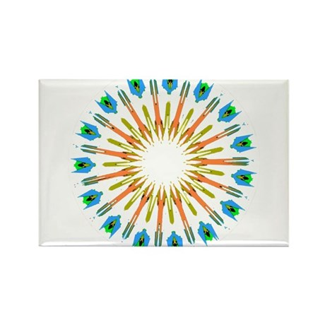 Kaleidoscope 003a1 Rectangle Magnet (10 pack)
