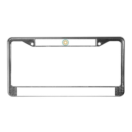 Kaleidoscope 003a1 License Plate Frame