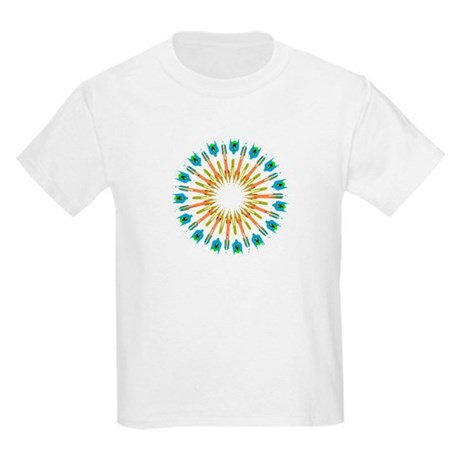 Kaleidoscope 003a1 Kids Light T-Shirt