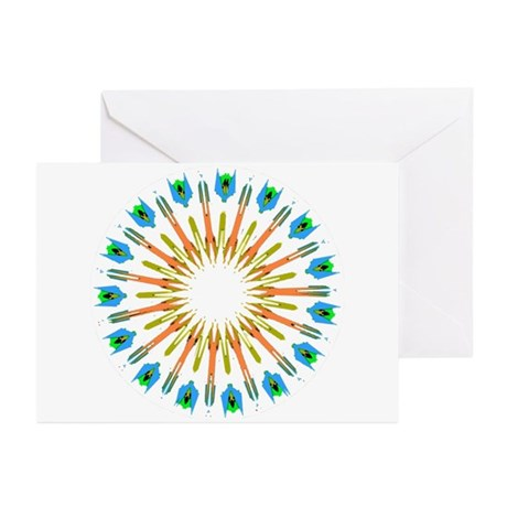 Kaleidoscope 003a1 Greeting Cards (Pk of 10)
