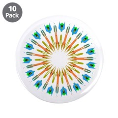 "Kaleidoscope 003a1 3.5"" Button (10 pack)"