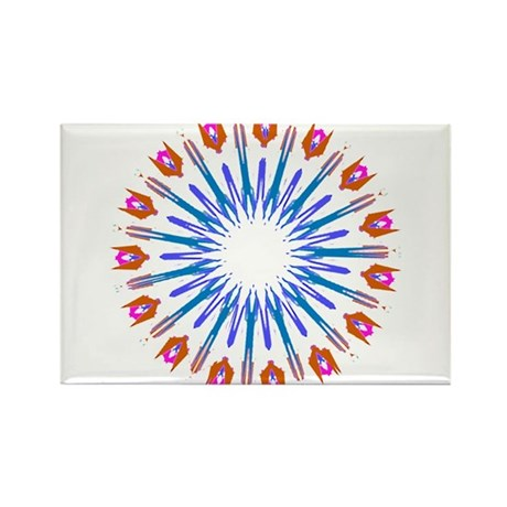 Kaleidoscope 003a Rectangle Magnet (100 pack)