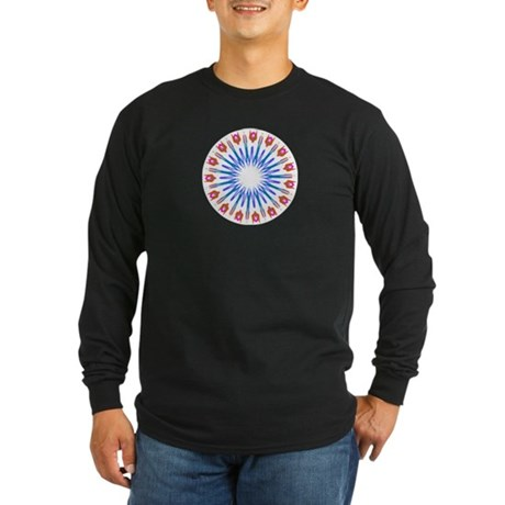 Kaleidoscope 003a Long Sleeve Dark T-Shirt