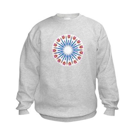 Kaleidoscope 003a Kids Sweatshirt