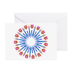 Kaleidoscope 003a Greeting Card