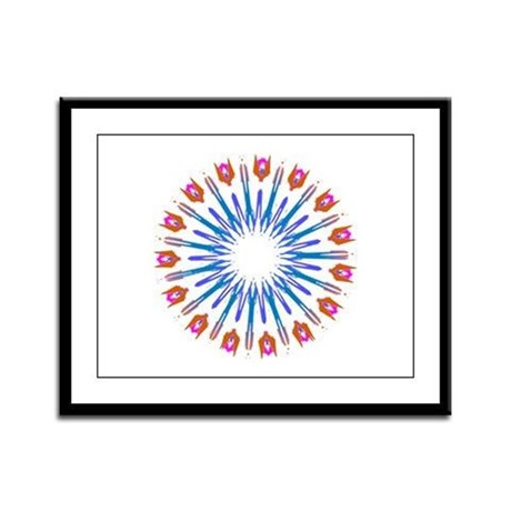 Kaleidoscope 003a Framed Panel Print
