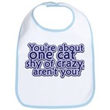One Cat Shy Bib