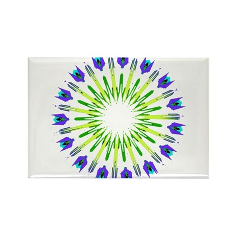 Kaleidoscope 003b Rectangle Magnet (10 pack)