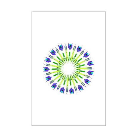 Kaleidoscope 003b Mini Poster Print
