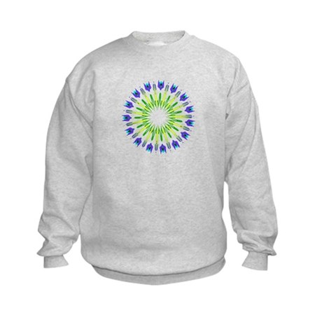 Kaleidoscope 003b Kids Sweatshirt