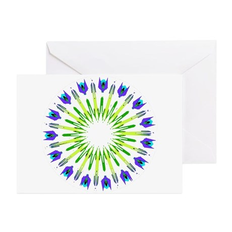 Kaleidoscope 003b Greeting Cards (Pk of 10)
