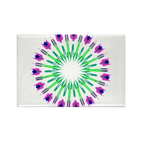 Kaleidoscope 003c Rectangle Magnet (100 pack)