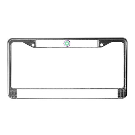 Kaleidoscope 003c License Plate Frame